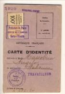 Carta D'identità Francese Per Lavoratori Immigrati (1929). Con Foto - Documenti Storici