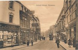 CPA ROYAUME UNI Oxford Street Swansea - Carte Rare Très Animée - Pays De Galles