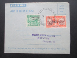 GB / Kolonie Western Samoa 1951. Air Mail. Air Letter Form. Apia. Toller Beleg!! - Samoa