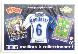 FOOTBALL MAILLOT MAGNET COULIBALY 6 AUXERRE JUST FOOT 2009 - Apparel, Souvenirs & Other