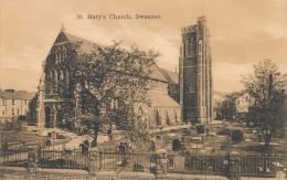 CPA ROYAUME UNI Swansea St Mary's Church - Pays De Galles