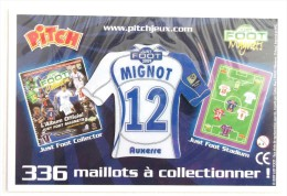 FOOTBALL MAILLOT MAGNET MIGNOT 12  AUXERRE  JUST FOOT 2009 - Apparel, Souvenirs & Other