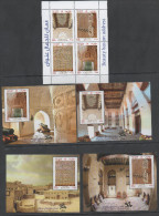 OMAN , 2014, MNH, FORTS, CASTLES, ARCHITECTURE, SHEETLET OF 4v+ 4 S/SHEETS , NICE! - Architecture