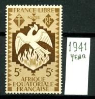 FRANCIA - A.E.F. - AFRICA  Equatoriale Francese. - Year 1941 - Nuovo - News - NO  GLUE . - A.E.F. (1936-1958)