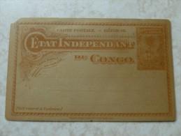 Entier Postale Etat Independant Du Congo Neuf ( Coin Superieure Gauche Abimé) - Congo Belge - Autres