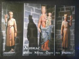 CPDM - AUBRAC - Eglise NOTRE DAME DES PAUVRES - Statues De ND Des Pauvres Et De Deux Clercs - France