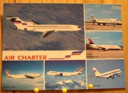 AIR CHARTER AIR FRANCE AIR INTER CARAVELLE BOEING AIRBUS A 300 MULTIVUES SUPER 10  SCAN R/V - 1946-....: Ere Moderne