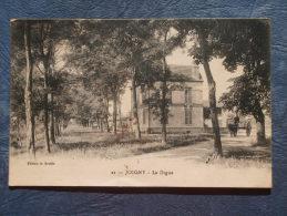 Joigny  La Digue - Animée : Attelage âne - Ed. Soubie 21 - Circulée 1923 - L233 - Joigny