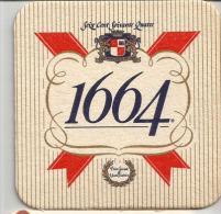 """Bière """"Seize Cent Soixante Quatre""""  1664, Sous Bock Bon état. - Sous-bocks"""