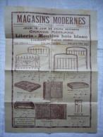 Grande Page Pub Magasins Modernes Béziers Literie Meubles Bois Blanc - Publicités