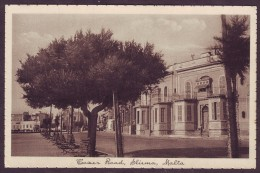 Old Malta Postcard Circa 1930 Tower Road Sliema - Malte