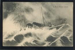 CROATIA POLA AUSTRIA WAR SHIP SHIFFE S.M.S. FRANZ JOSEF OLD POSTCARD #50 - Krieg