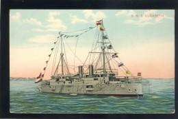 CROATIA POLA AUSTRIA WAR SHIP SHIFFE S.M.S. ELISABETH OLD POSTCARD #51 - Krieg