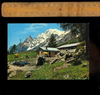 COURMAYEUR Val D'Aosta : Val Ferret Le Pont LOASI Ristorante Aiguille Noire M Bianco Mont Blanc / Auto Fiat - Italia