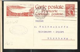 Carte Illustrée(n° Zumstein2009): N° 104-028: Obl.:   LAC Léman, Vu De CAUX   (obl. Bern 30/11/1925) - Entiers Postaux