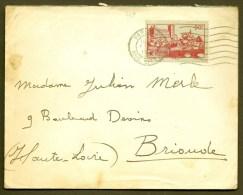 LETTRE ANCIENNE FRANCE- TIMBRE N° 449 SEUL SUR LETTRE-  CAD 1939- - 1921-1960: Modern Period