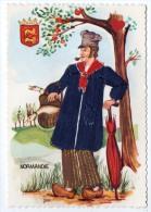 25776-LE-FANTAISIE-NORMANDIE--------carte Brodée - Ricamate