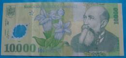 ROMANIA  10,000  LEI 2000 VF+, PLASTIK - Romania