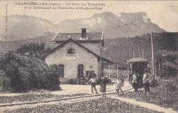 CPA - CHAPAREILLAN : La Gare Du Tramway Et Le Tramway De Grenoble à Chapareillan - Frankrijk