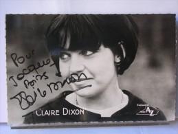 AUTOGRAPHE CLAIRE DIXON - Autographes
