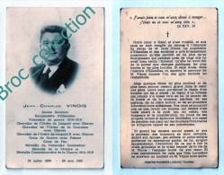 Ellezelles, Mémento De Jean-Charles Vinois, 28/05/1965, Sénateur, Bourgmestre, Croix De Guerre... - Images Religieuses