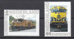 Trein, Train, Railway, Locomotive: Nederland :  Bruine Loc + Gele Loc - Trains