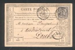 Carte Postale Correspondance De Séclin (Nord) - Timbre N° 77 - Tàd 18  25 Dec 1877 - 1849-1876: Période Classique