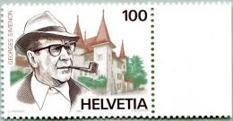 N° Yvert 1463 - Timbre De Suisse (1994) - MNH - Georges Simenon - Château D'Echandens (DA) - Unused Stamps
