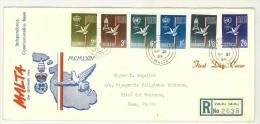 FDC MALTA - ANNO 1964 - INDIPENDENCE COMMEMORATIVE ISSUE - VALLETTA - RACCOMANDATA  - PER CITTà DEL VATICANO - - Malta