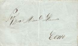 G)1845 PERU, COMPLETE LETTER FROM LIMA TO CERRO, INTERNAL USAGE, XF - Peru
