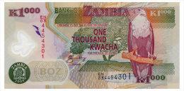 ZAMBIA 1000 KWACHA 2009 Pick 44g Unc - Zambie