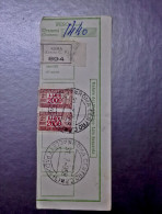 RICEVUTA PACCHI POSTALI 2000 LIRE 1958 - Meta´ Usata Ricevuta - Gebruikt