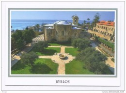 Byblos Jbeil St John Marcus Church, postcard Lebanon , carte postale eglise Liban Libanon