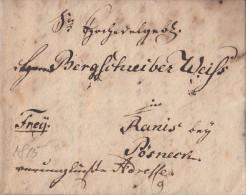 Brief Gel. Von Freiberg Vom 13.6.1815 Gel. Nach Ranis Bei Pösneck Inhalt !!!!!!!!!! - Deutschland
