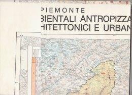 C1883 - CARTA DELLE AREE AMBIENTALI ANTROPIZZATEE DEI BENI CULTURALI ARCHITETTONICI E URBANISTICI PIEMONTE Ed.S.E.L.C.A. - Altri