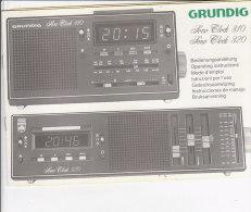C1902 - LIBRETTO ISTRUZIONI RADIO GRUNDIG SONO CLOCK Model 310 - 320/RADIO SVEGLIA - Apparecchi