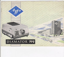 C1904 - LIBRETTO ISTRUZIONI PROIETTORE AGFA DIAMATOR M - Projectores