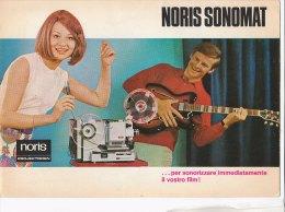 C1906 - Brochure Illustrata PROIETTORE SONORO SONOMAT SUPER 8 NORIS - Proiettori