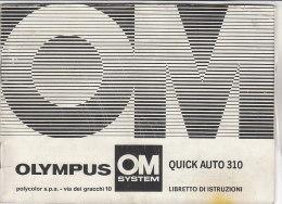 C1918 - LIBRETTO ISTRUZIONI FLASH OLYMPUS OM QUICK AUTO 310/MACCHINA FOTOGRAFICA - Materiale & Accessori