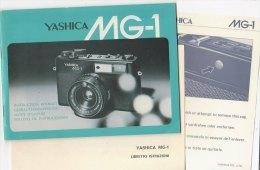 C1919 - LIBRETTO ISTRUZIONI MACCHINA FOTOGRAFICA YASHICA MG-1 - Macchine Fotografiche