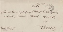 Brief Gel. Von Warburg Am 25.4.1842 Nach Brakel - Deutschland