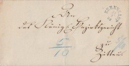 Sachsen Brief Bernstadt 27.2.1859 Gel. Nach Zittau - Sachsen