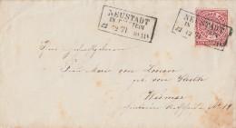 NDP Brief EF Minr.16 R3 Neustadt In Holstein 22.12.71 - Norddeutscher Postbezirk