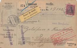 DR Paketkarte EF Minr.77 Elberfeld 28.7.02 Gel. In Schweiz - Deutschland