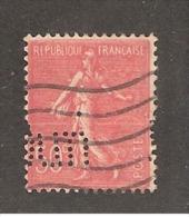 Perforé/perfin/lochung France No 199 Dun  R.G. DUN Et Cie (106) - Perforés