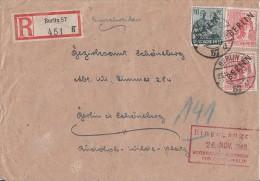 Berlin Orts-R-Brief Mif Minr.7, 2x 11 Berlin 25.11.48 - Berlin (West)