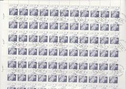 SAHARA OCCIDENTAL R.S.A.D. -2 FEUILLES DE 110 TIMBRE -ANNEE 1992 -FLEURS - Vignettes De Fantaisie