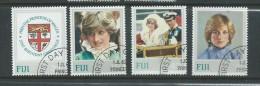 Fiji 1982 Princess Diana Set 4 FU - Fiji (1970-...)