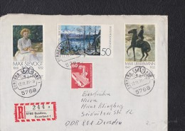 BRD R-Brief In MiF, Von 5768 SUNDRN, SAUERLAND 1 (244 A), Vom 17.11.78 Knr: 986-988 U.a. - Storia Postale