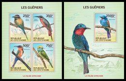 IVORY COAST 2014 - Bee-eaters - Mi 1559-62 + B199; CV = 19.5 € - Andere